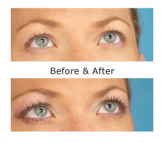 Before and after CryBaby Cry Baby semi permanent mascara UK